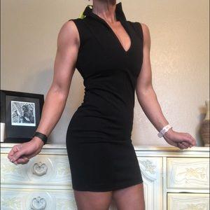 NWT Catherine Malandrino Sexy Black Bodycon Dress